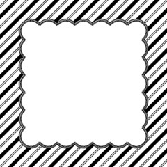 Black and White Striped Background with Embroidery
