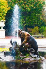 Fountain in Schonbrunn palace park, Vienna