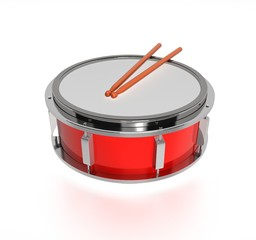 Drum with drumstick