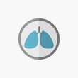 Lungs Flat Icon
