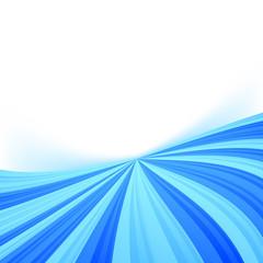 Blue stream line border wave background
