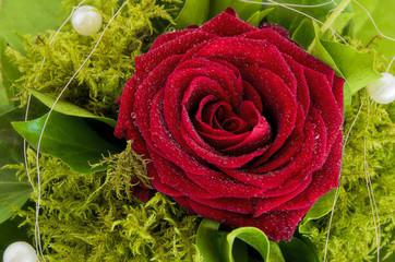 Rosenblüte in einem Rosenstrauß