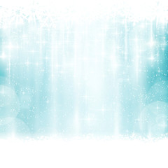 Blue winter, Christmas background with light effects
