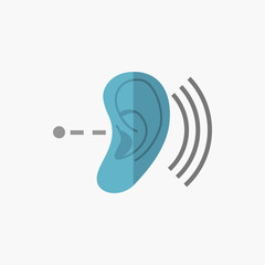 Deafness Flat Icon