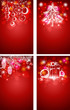 Red Christmas vector vertical backgrounds