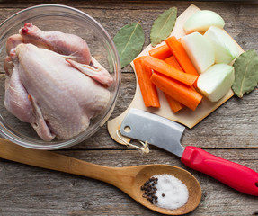 ingredients chicken broth - farm chicken, onions, carrots and sp