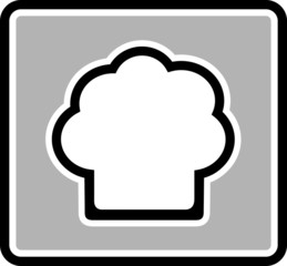 chef hat gray icon