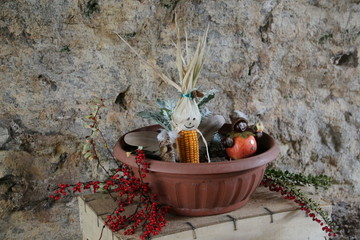 Herbstliche Dekoration aus Naturmaterialien