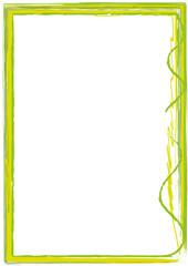Rahmen grün Striche