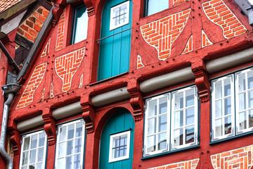 Pittoreske historische Bauten in Altstadt Lüneburg