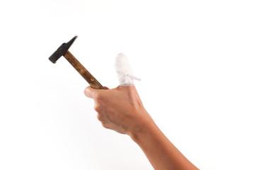dito con fasciatura