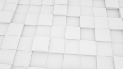 abstract geometric background white mat cubes moving loopable