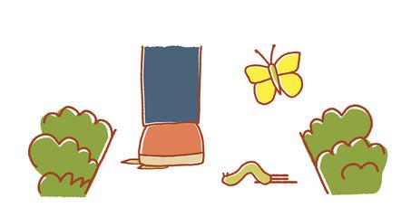 横断するイモムシ