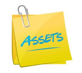 assets post memo illustration design