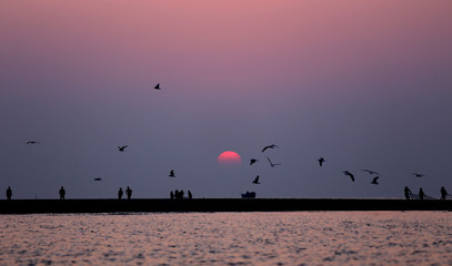 Sunrise at Kuakata, Bangladesh