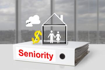 office binder seniority house grandparents dollar symbol
