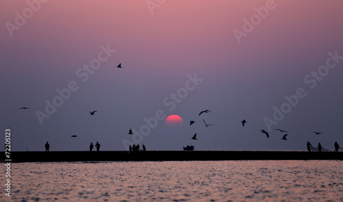 Sunrise at Kuakata, Bangladesh