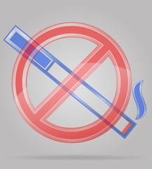 transparent sign no smoking vector illustration