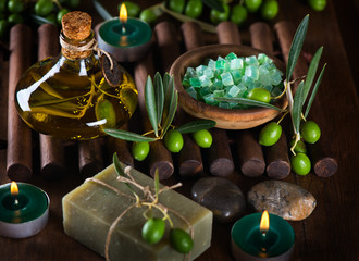 Spa with olives