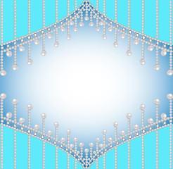 background with precious stones and pearls