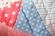Polka dot quilt background