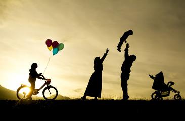 mutlu sağlıklı aile