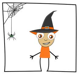 Illustration bonhomme et l'araignée