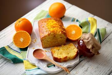 кекс с апельсинами и оливковым маслом