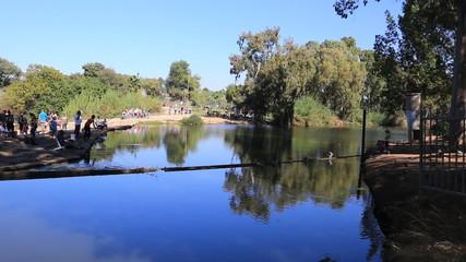 river yarkon. Israel. entrance to park
