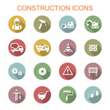 Fototapety construction long shadow icons