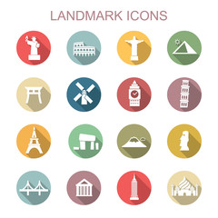 landmark long shadow icons