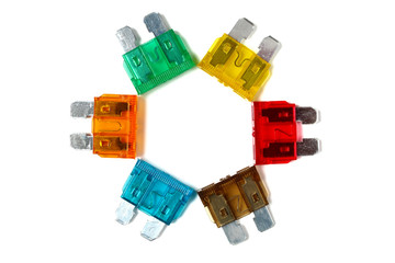 Car blade type fuses