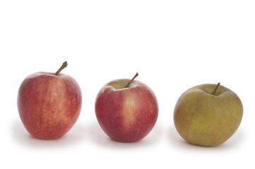 Drei beliebte Bio-Apfelsorten - Gala, Arlet und Boskoop