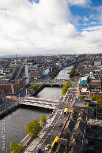Stampa su Tela Dublin Skyline