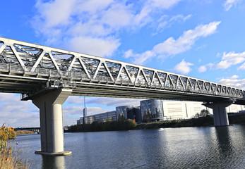 Myakininskiy (Mitinskiy) Metro bridge in Moscow