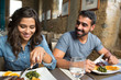 Couple having lunch - 72209581