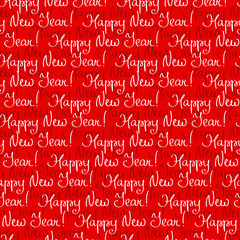 Seamless New Year's pattern