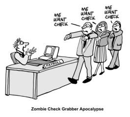 Zombie Check Grabber Apocolypse