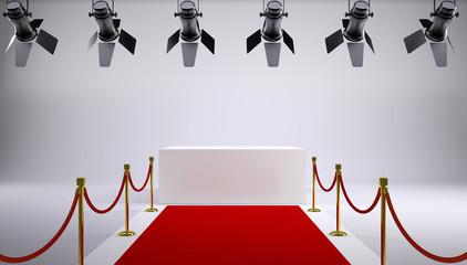 Red carpet at the studio
