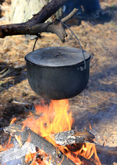 Smoked Tourist kettle on fire