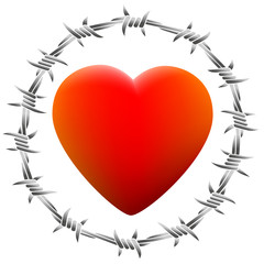 Barbed Heart White