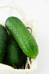 Close up of a cucumber