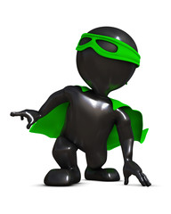 3D Render of Morph Man  super hero