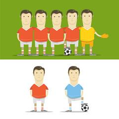 Soccer team clip-art