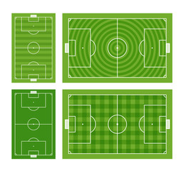 Green football fields collection