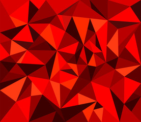 Abstract geometrical background in red tones