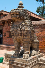 The guard on a Durbar square of Bhaktapur, Nepal