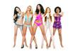 Five young women in bikini