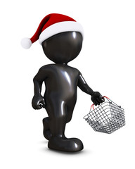 Morph Man with christmas shopping basket