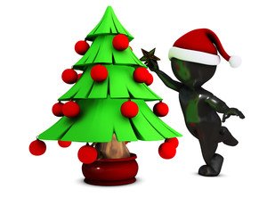 Morph Man with christmas tree